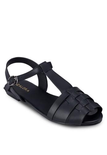 編zalora鞋子評價織露趾平底涼鞋, 女鞋, 魚口鞋
