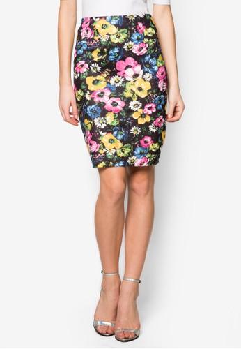 花卉圖案鉛zalora taiwan 時尚購物網鞋子筆短裙, 服飾, 服飾