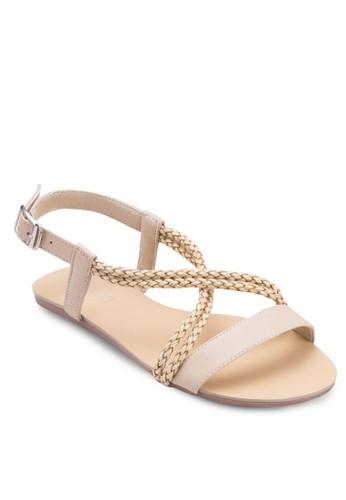 Irzalora 泳衣ene 辮子繞踝涼鞋, 女鞋, 涼鞋