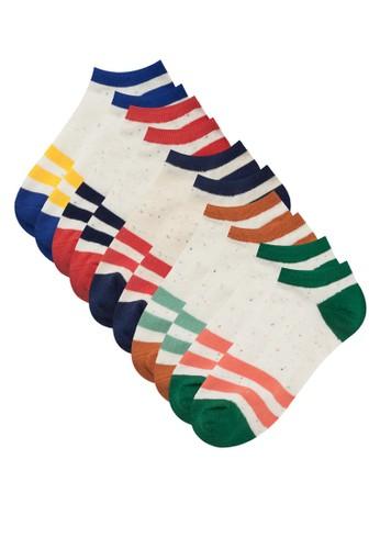 五入撞色zalora開箱船型襪, 服飾, 服飾