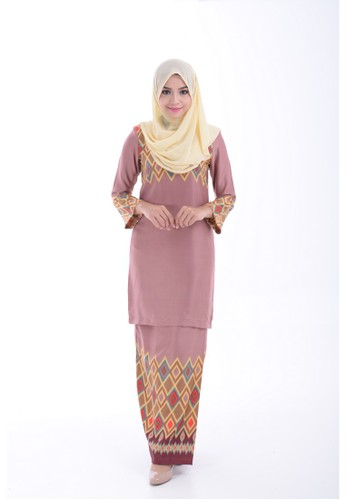 Kurung Modern Adlina (Purple) from Nur Shila in Purple