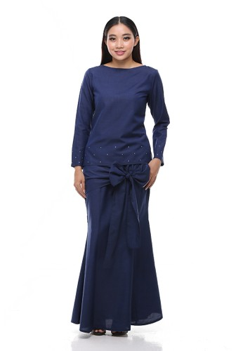 Intan Modern Kurung from Secretcode in Blue