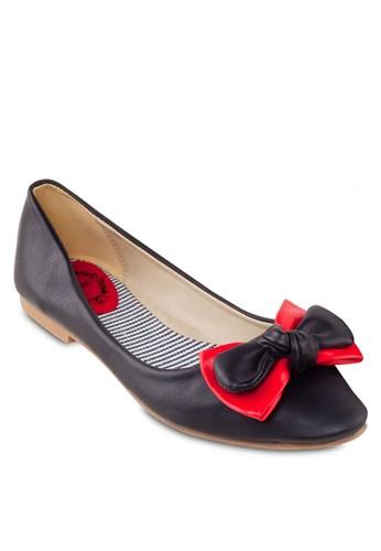 雙蝴蝶結平底鞋, 女鞋, 芭蕾zalora 台灣門市平底鞋