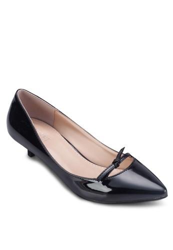 Maria 小蝴蝶結尖zalora 台灣頭低跟鞋, 女鞋, 鞋