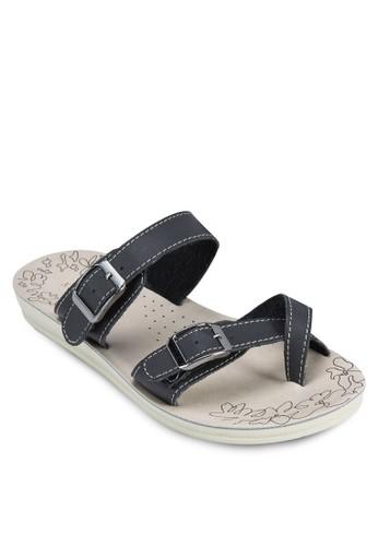 雙zalora鞋子評價扣環帶印花厚底涼鞋, 女鞋, 涼鞋