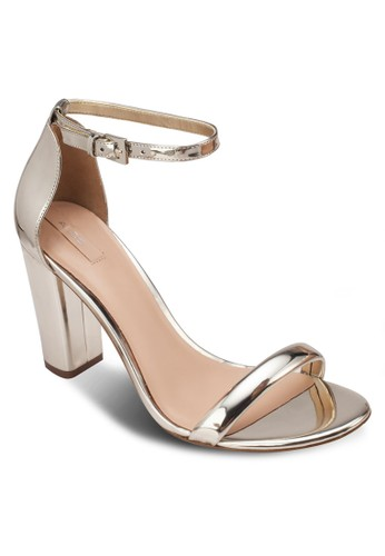 Cizalora 台灣cci 一字帶繞踝高跟鞋, 女鞋, 細帶高跟鞋