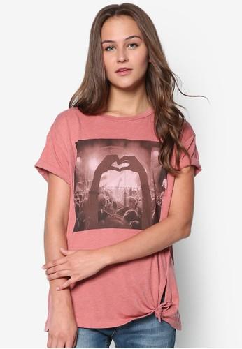 棉質圖案設計TEE, mango tw服飾, 服飾