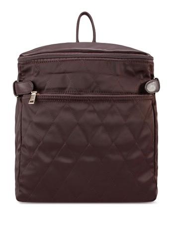 軟襯方zalora退貨形後背包, 包, 飾品配件