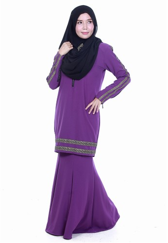 Farosa Kurung Saphira Purple from Farosa in Purple