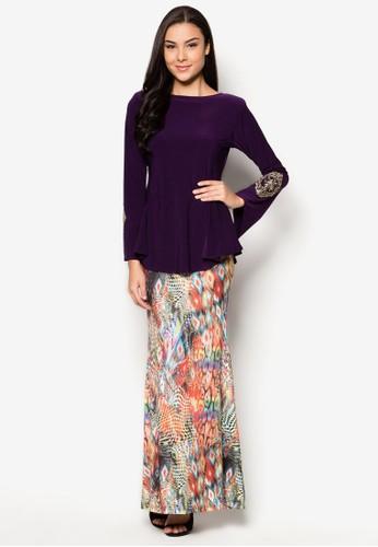 Thalia Midi Kurung from Zuco Fashion in Purple