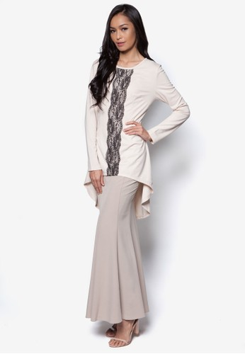 Endless Sway Baju Kurung Moden from Zolace in Beige