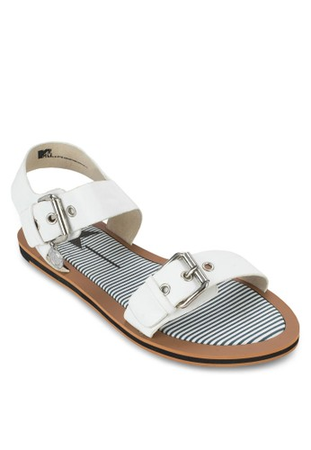 雙zalora退貨扣環平底涼鞋, 女鞋, 鞋