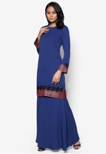 Baju Kurung Modern from Gene Martino in Blue
