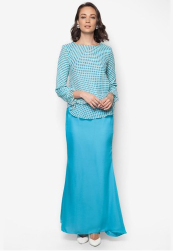 Mini Kurung 2 Layers from Zuco Fashion in Blue