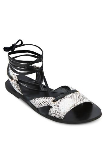 動zalora 手錶物紋羅馬涼鞋, 女鞋, 鞋