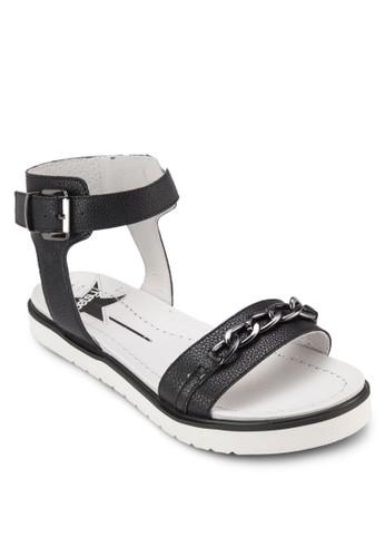鍊飾繞踝厚zalora 評價底涼鞋, 女鞋, 鞋