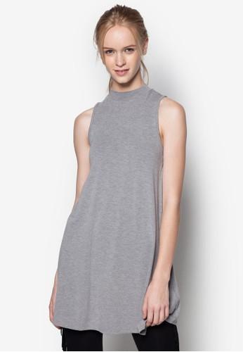 高領無topshop袖長版上衣, 服飾, 洋裝