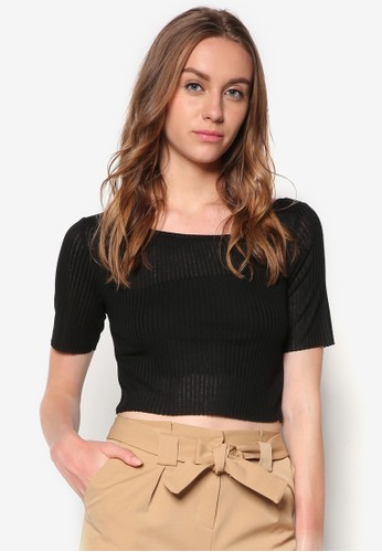 羅紋topshop代購短版TEE, 服飾, 短上衣