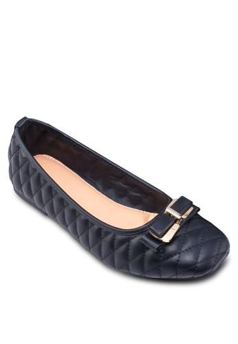 菱格雙蝴蝶結娃娃zalora 心得鞋, 女鞋, 鞋