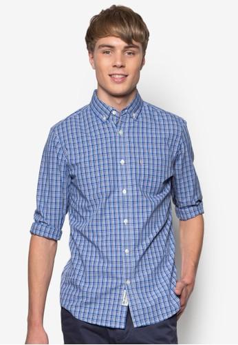 Lawson 格紋zalora 心得長袖襯衫, 服飾, 襯衫