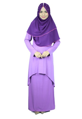 Aleyka Baju Kurung Violet Purple from anisse in Purple