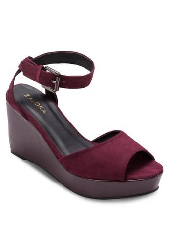 露趾厚底楔形涼zalora 評價鞋, 女鞋, 鞋