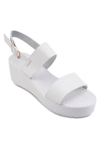 Jorah 一字帶厚底涼鞋, 女zalora鞋子評價鞋, 鞋