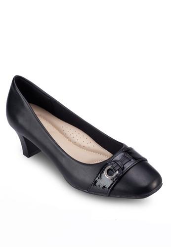 扣環飾帶中跟鞋zalora 心得, 女鞋, 鞋