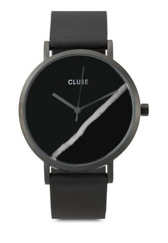 La Roche 大zalora鞋子評價理石真皮圓錶, 錶類, 皮革錶帶