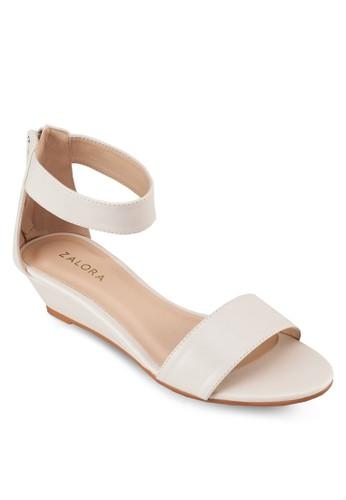 一字帶繞踝楔形鞋, 女鞋zalora taiwan 時尚購物網鞋子, 楔形涼鞋