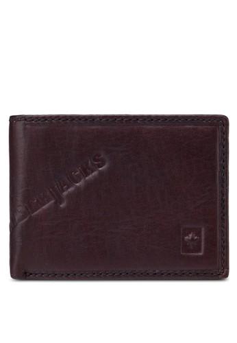 Luzalora退貨mberjacks 壓紋對折皮夾, 飾品配件, 皮革