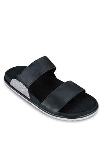 一字雙帶zalora 台灣涼鞋, 鞋, 鞋