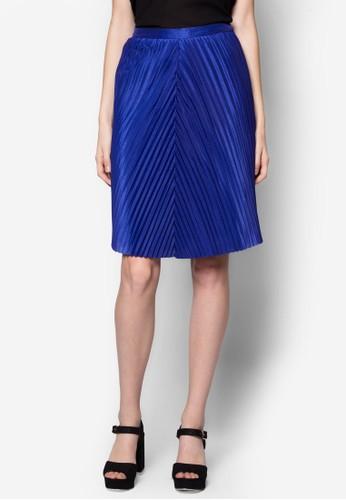 斜topshop 洋裝紋褶飾及膝裙, 服飾, 服飾