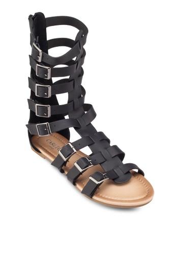 扣環多帶羅馬涼鞋, 女鞋, zalora 男鞋 評價涼鞋