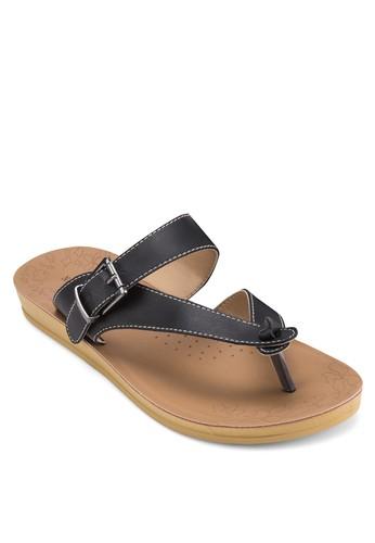 扣環zalora 心得人字帶涼鞋, 女鞋, 涼鞋