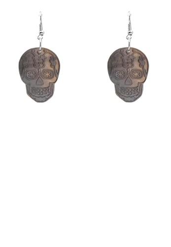 骷髏頭zalora 評價耳環, 飾品配件, 首飾