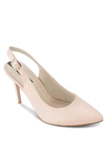 露跟踝帶尖頭高跟鞋, 女鞋, 厚底zalora 鞋評價高跟鞋