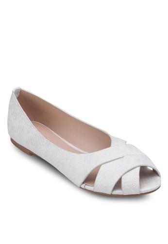 交叉露趾平底鞋, 女zalora 台灣鞋, 芭蕾平底鞋