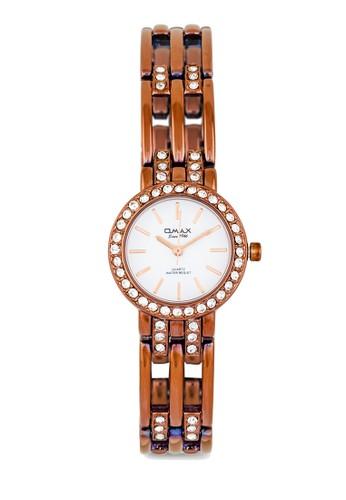 JES6205BRW 水鑽細鏈圓錶zalora鞋, 錶類, 其它錶帶