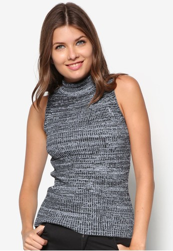 紮染羅紋高領無袖上衣zalora 包包評價, 服飾, 服飾