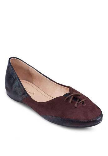 拼接飾帶平底鞋, 女鞋, 芭zalora 衣服評價蕾平底鞋