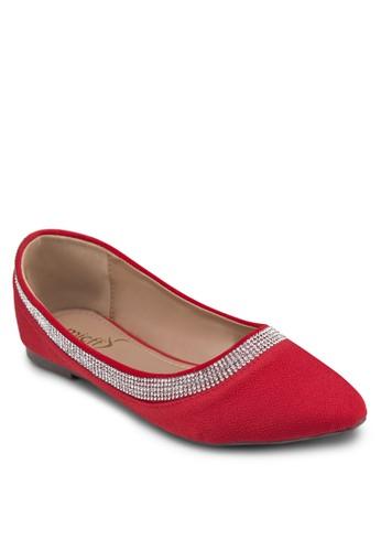 經zalora 包包評價典串珠平底鞋, 女鞋, 鞋