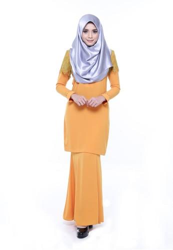Kurung Rumi Rhinestone from AWNI in Orange and Green