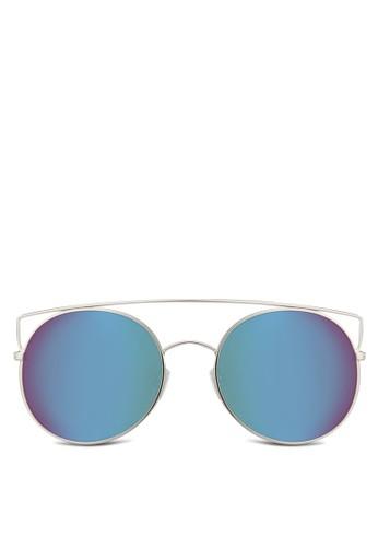 經典圓zalora鞋子評價框太陽眼鏡, 飾品配件, 圓框