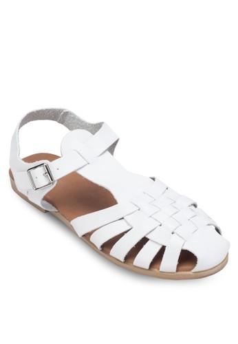 Fzalora 心得rankie 編織帶繞踝涼鞋, 女鞋, 涼鞋