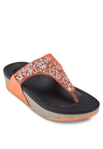 仿鑽夾腳厚底涼鞋, 女zalora開箱鞋, 涼鞋