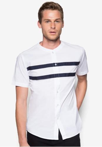 條紋短袖襯衫, zalora 評價服飾, 襯衫