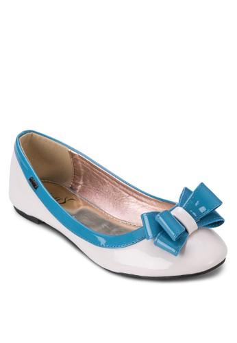 拼色蝴蝶結zalora 台灣休閒平底鞋, 女鞋, 芭蕾平底鞋