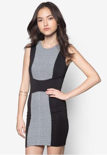 印zalora 包包評價花拼接傘狀連身裙, 服飾, 正式洋裝