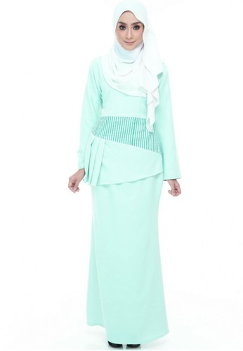 Grace Peplum Kurung from Farha by JZ in Green